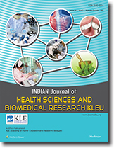 Cover page of the Journal of Health Sciences